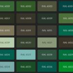 Objectsinglass splashback coloured green options